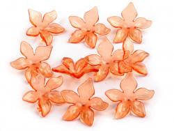 Kwiatki akrylowe - koraliki 29mm