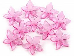 Kwiatki akrylowe 29mm różowe