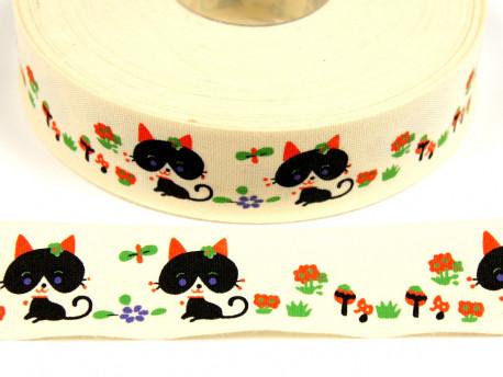 Tasiemka bawełniana 25mm kotki
