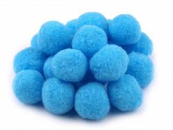 Pompony błękitne 25mm - 10szt