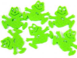 Aplikacje z filcu żabki 5szt