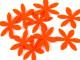 Aplikacje z filcu kwiatki pomarańczowe 5szt
