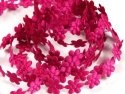 Aplikacje kwiatki 15mm - amarantowe