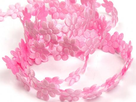 Aplikacje kwiatki 20mm - jasne różowe