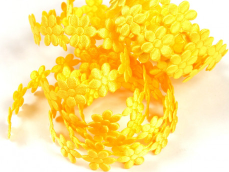 Aplikacje kwiatki 15mm - żółte