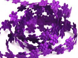 Aplikacje kwiatki 15mm - ciemne fioletowe