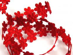 Aplikacje kwiatki 15mm - czerwone
