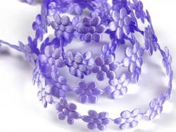 Aplikacje kwiatki 15mm - jasne fioletowe
