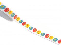 Tasiemka rypsowa 15mm pisanki kolorowe