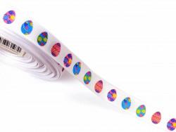 Tasiemka rypsowa 15mm pisanki pastelowe