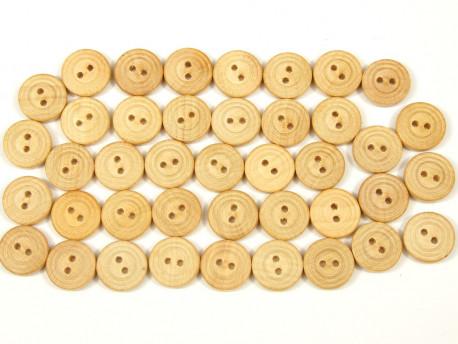 Drewniane guziki - rowki, 15mm