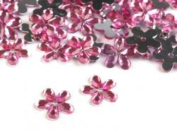 Kwiatki akrylowe jasne różowe 12mm
