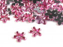 Kwiatki akrylowe 12mm jasne różowe