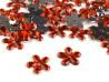 Kwiatki akrylowe 12mm czerwone