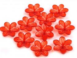 Kwiatki akrylowe 26mm czerwone