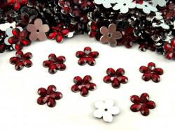 Kwiatki akrylowe 12mm bordowe