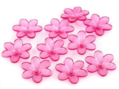 Kwiatki akrylowe 26mm amarantowe