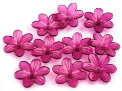 Kwiatki akrylowe 26mm burgundowe
