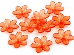 Kwiatki akrylowe 26mm pomarańczowe