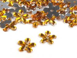 Kwiatki akrylowe 12mm pomarańczowe