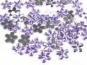 Kwiatki akrylowe 12mm jasno fioletowe