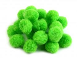 Pomponiki jasne zielone 15mm - 20szt