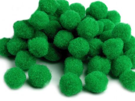Pomponiki ciemne zielone 11mm - 20szt