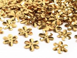 Cekiny kwiatki 15mm złote
