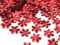 Cekiny kwiatki 15mm czerwone