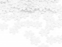 Cekiny kwiatki 15mm białe