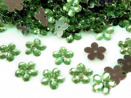 Kwiatki Akrylowe 12mm Jasny Zielony