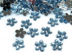 Kwiatki Akrylowe 12mm Błękitny