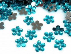 Kwiatki Akrylowe 12mm Turkusowy