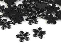Kwiatki Akrylowe 12mm Czarny