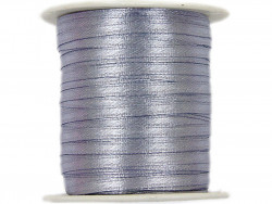 Wstążka satynowa 3mm - szara srebrna