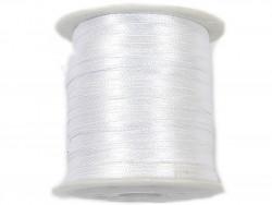 Wstążka satynowa 3mm rolka - biała