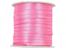 Wstążka satynowa 3mm rolka - różowa jasna