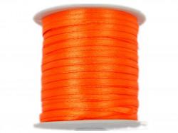 Wstążka satynowa 3mm rolka - pomarańczowa ostra