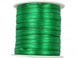 Wstążka satynowa 3mm rolka - zielona