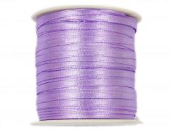 Wstążka satynowa 3mm rolka - fioletowa lawendowa