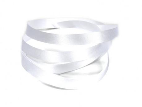 Wstążka satynowa 10mm - biała