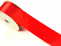 Wstążka satynowa 30mm - czerwona
