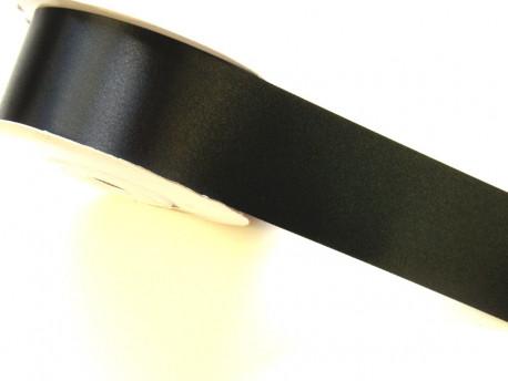 Wstążka satynowa 40mm - czarna
