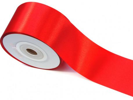 Wstążka satynowa 50mm - czerwona