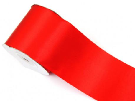 Wstążka satynowa 100mm - czerwona