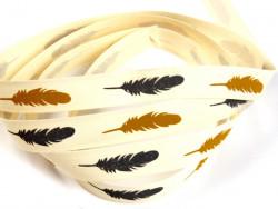 Tasiemka bawełniana 15mm piórka