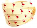 Tasiemka bawełniana 15mm flamingi
