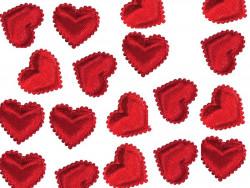 Aplikacje serca miękkie czerwone 15mm