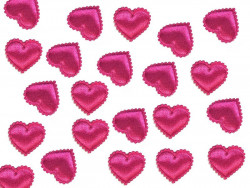 Aplikacje serca miękkie amarantowe 15mm