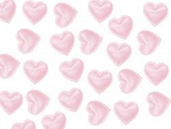 Aplikacje serca miękkie blade różowe 15mm